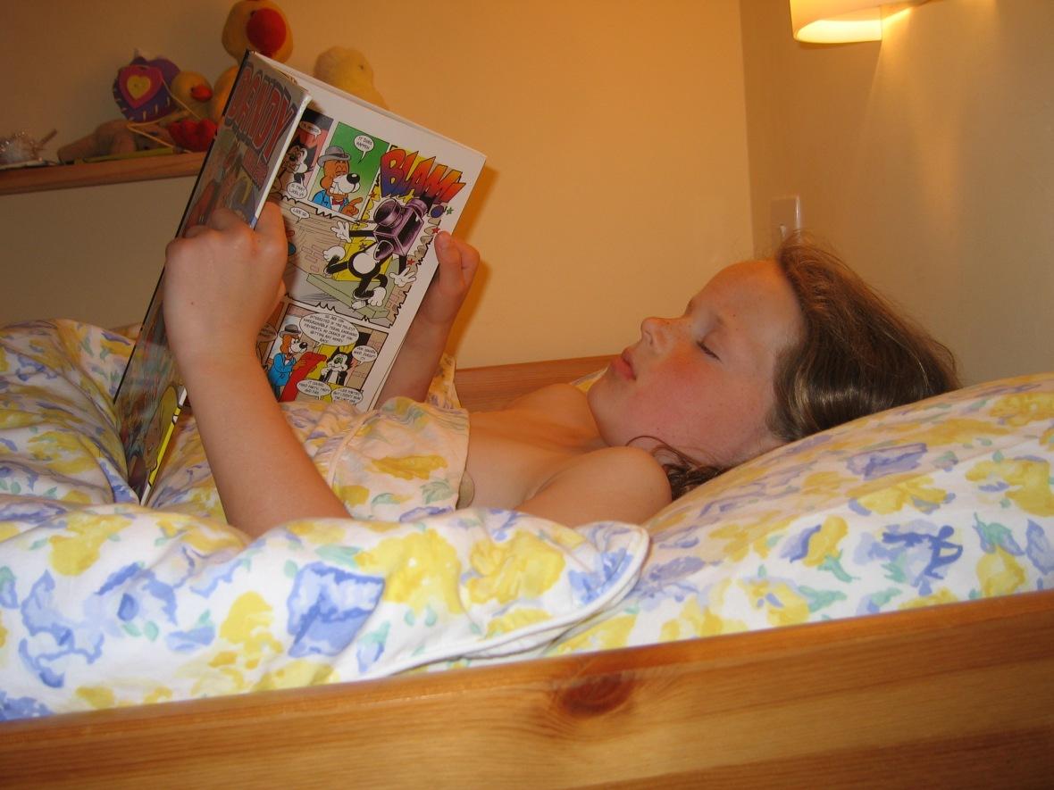 Rebecca Reading Comic
